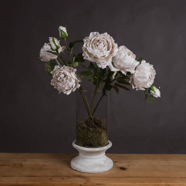 Grey Spray Rose Peony - Cosy Home Interiors