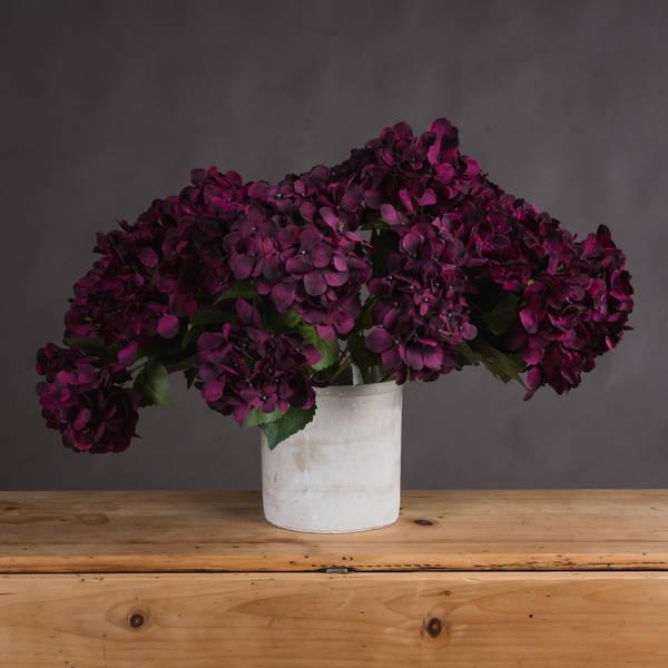 Purple Hydrangea Bouquet - Cosy Home Interiors