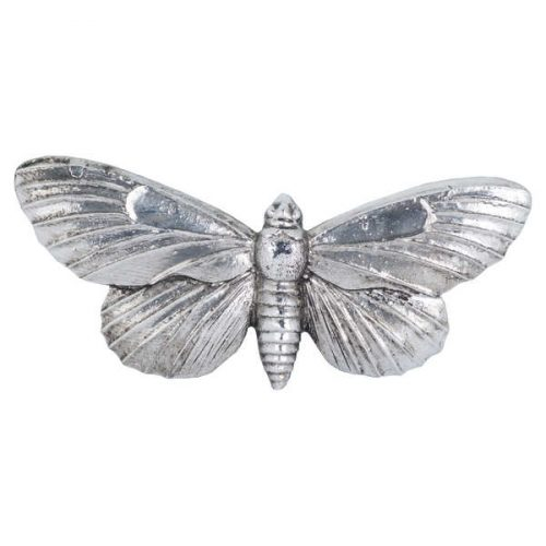 Antique Silver Butterfly Decorative Clip - Cosy Home Interiors