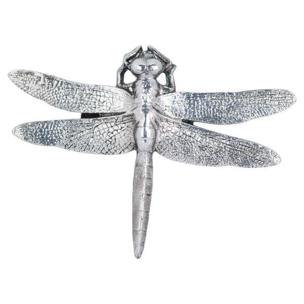 Antique Silver Dragonfly Decorative Clip - Cosy Home Interiors