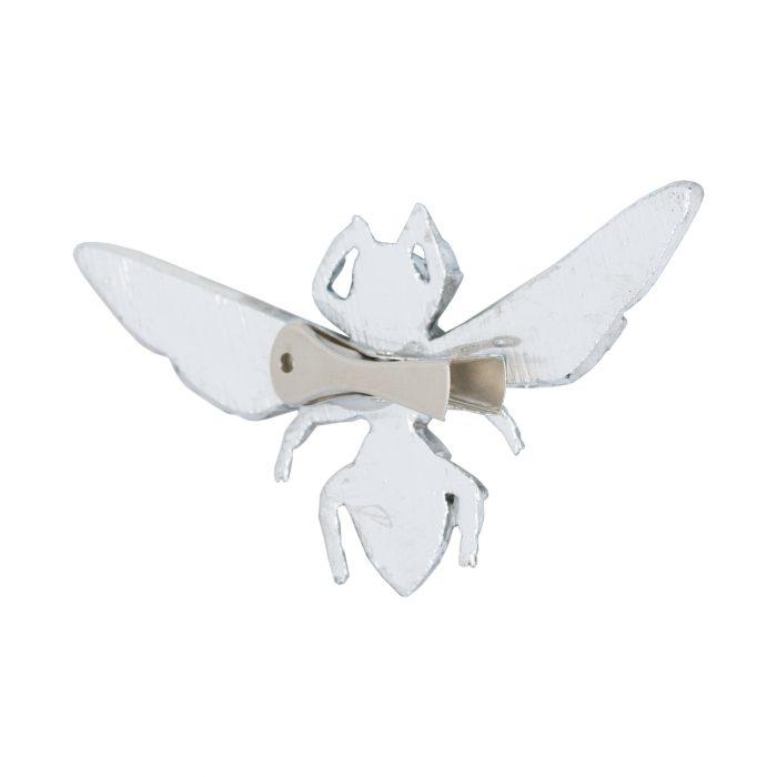 Antique Silver Bumble Bee Decorative Clip - Cosy Home Interiors