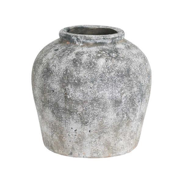 Aged Stone Ceramic Vase - Cosy Home Interiors