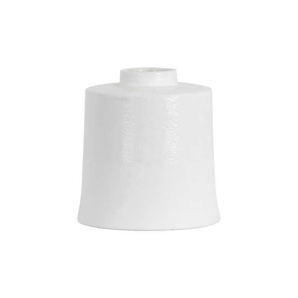 White With Grey Detail Large Cylindrical Ceramic Vase - Cosy Home Interiors
