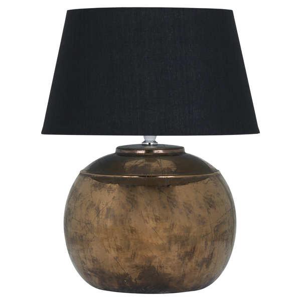 Regola Bronze Metallic Ceramic Table Lamp - Cosy Home Interiors