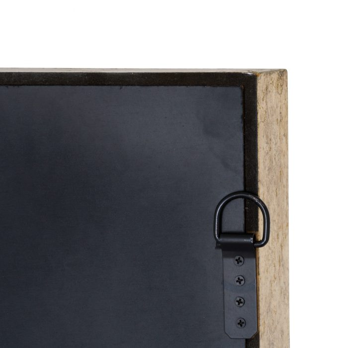 Large Mirrored Square Framed Clock With Moving Mechanism - Cosy Home Interiors