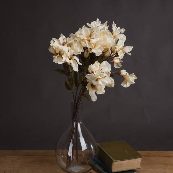 Autumn Cream Alstroemeria Lily Spray - Cosy Home Interiors