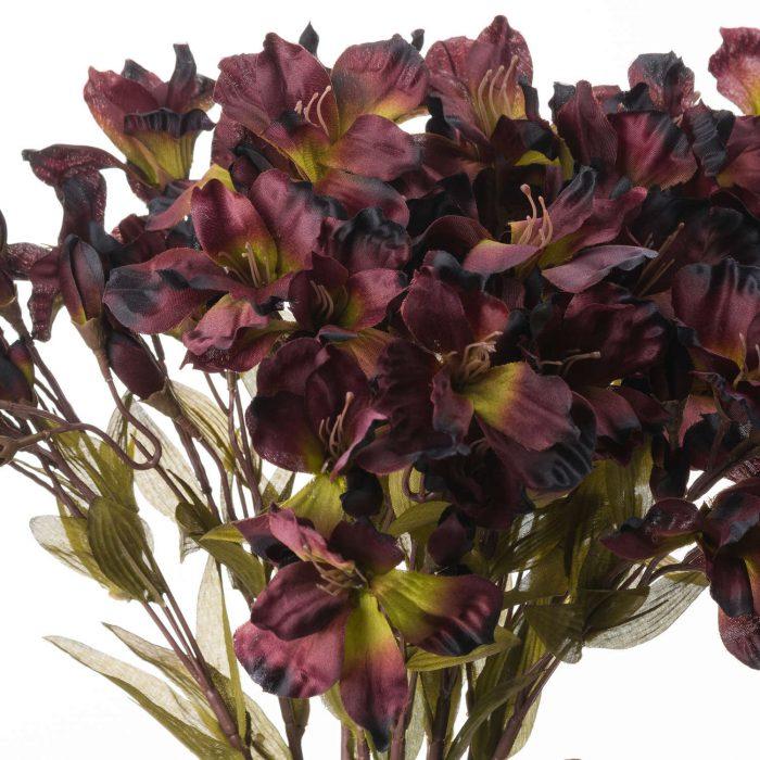 Chocolate Alstroemeria Lily Spray - Cosy Home Interiors