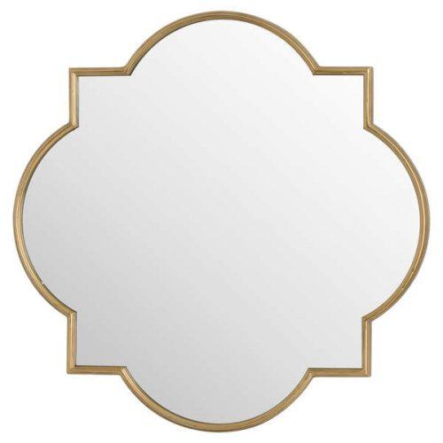 Antique Gold Quarterfoil Mirror - Cosy Home Interiors