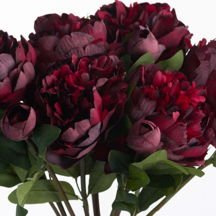 Burgundy Peony Rose - Cosy Home Interiors
