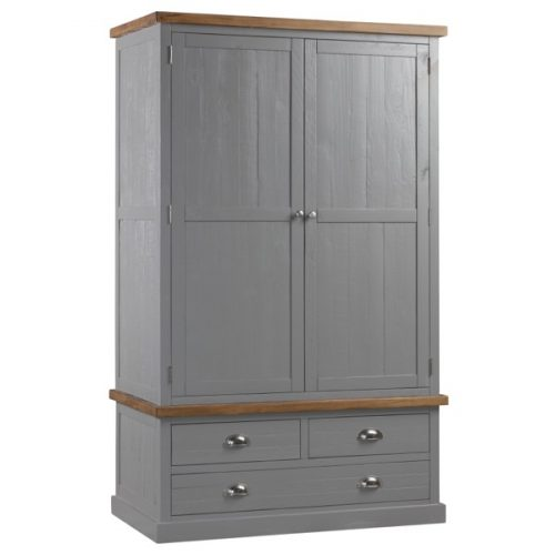 The Byland Collection Three Drawer Two Door Wardrobe - Cosy Home Interiors