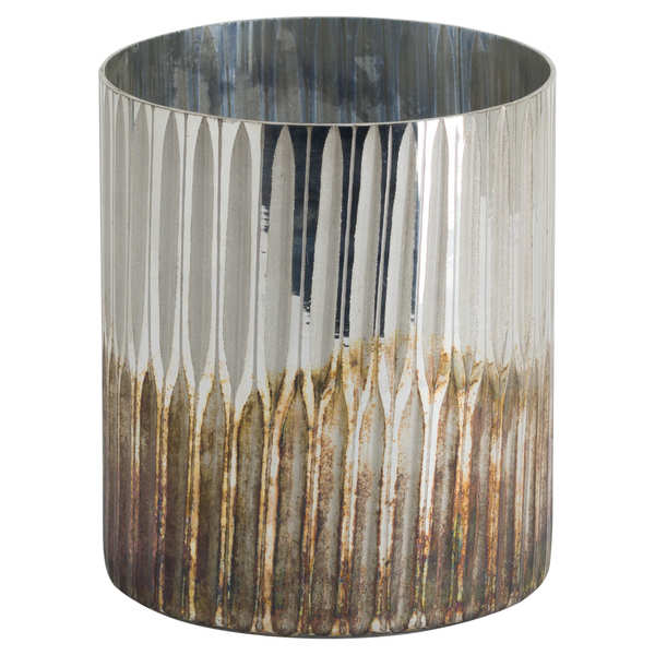 Grey And Bronze Large Ombre Candle Holder - Cosy Home Interiors