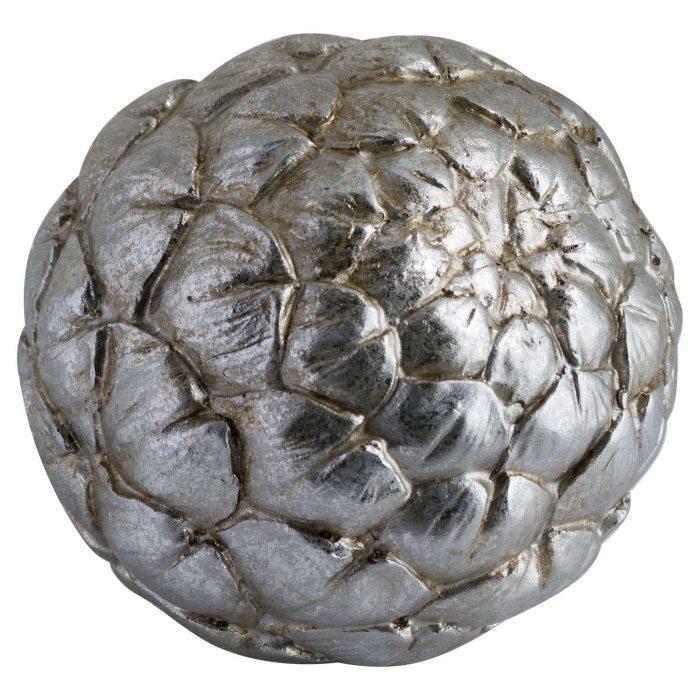 Large Silver Artichoke Decoration - Cosy Home Interiors