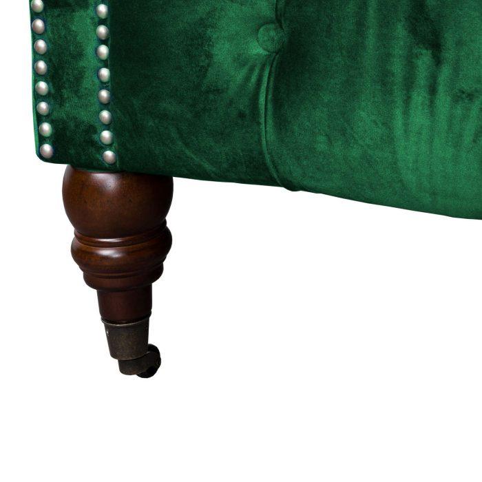 Emerald Velvet Chesterfield Three Seater Sofa - Cosy Home Interiors