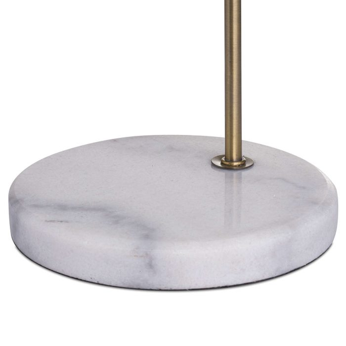 Marble And Brass Industrial Adjustable Desk Lamp - Cosy Home Interiors