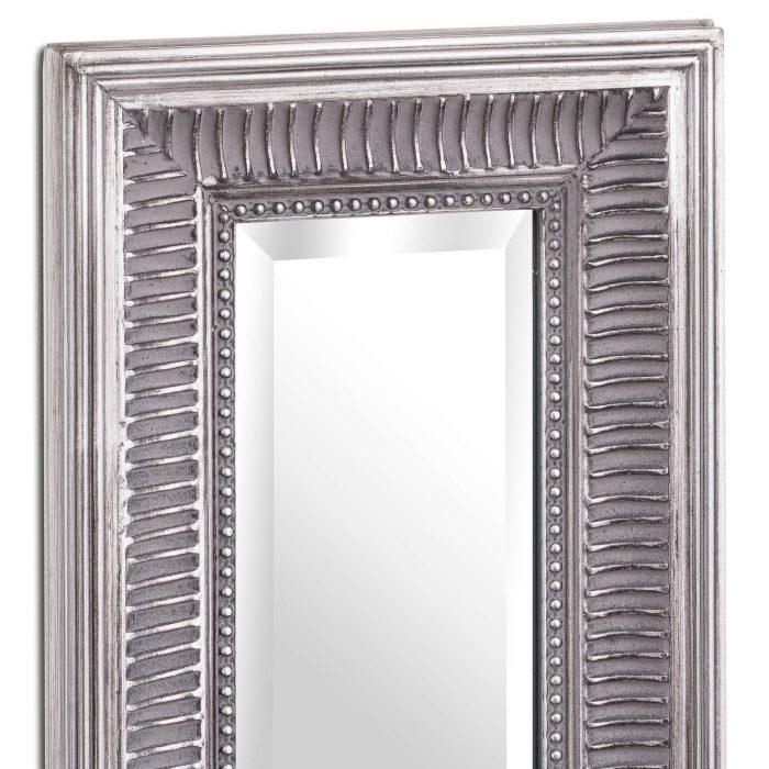 Oscar Slimline Antique Silver Full Length Mirror - Cosy Home Interiors