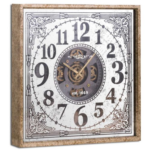 Mirrored Moving Mechanism Wall Clock - Cosy Home Interiors