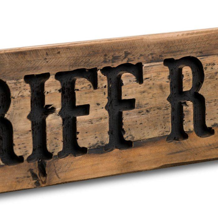 No Riff Raff Rustic Wooden Message Plaque - Cosy Home Interiors
