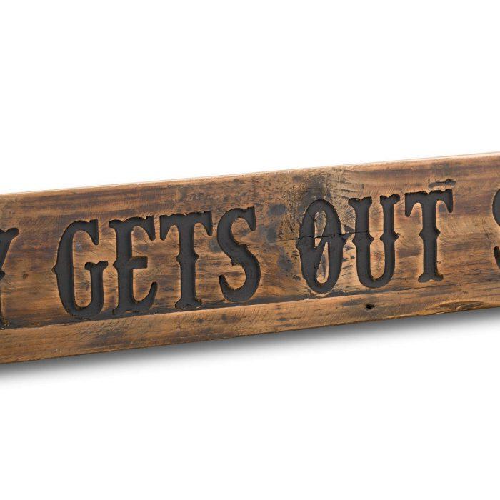 Sober Rustic Wooden Message Plaque - Cosy Home Interiors