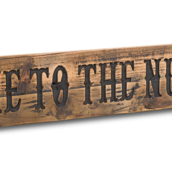 Nut House Rustic Wooden Message Plaque - Cosy Home Interiors