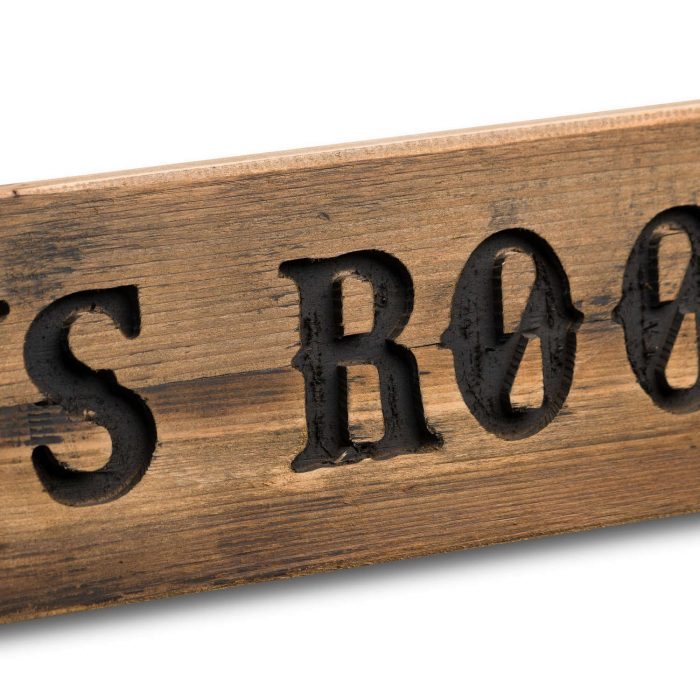 Boys Room Rustic Wooden Message Plaque - Cosy Home Interiors
