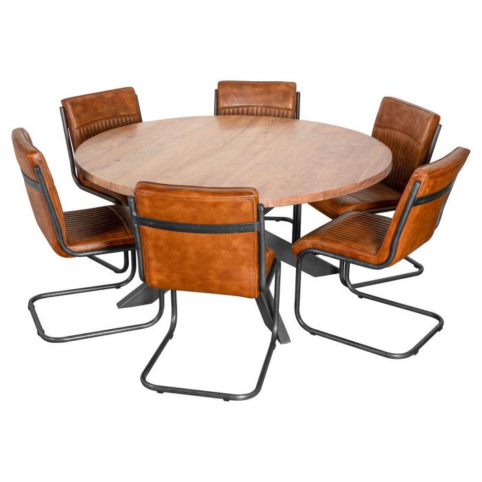 Live Edge Collection Large Round Dining Table - Cosy Home Interiors