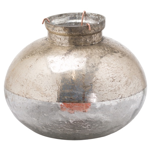 Large Silverlust Bulbus Candle Holder - Cosy Home Interiors