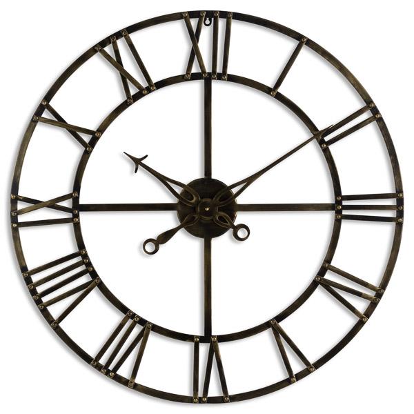 Small Antique Brass Skeleton Clock - Cosy Home Interiors