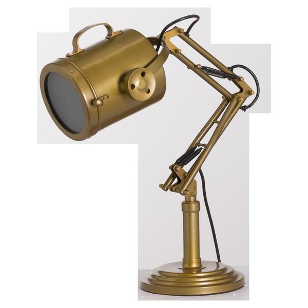 Brass Industrial Adjustable Spot Light Lamp - Cosy Home Interiors