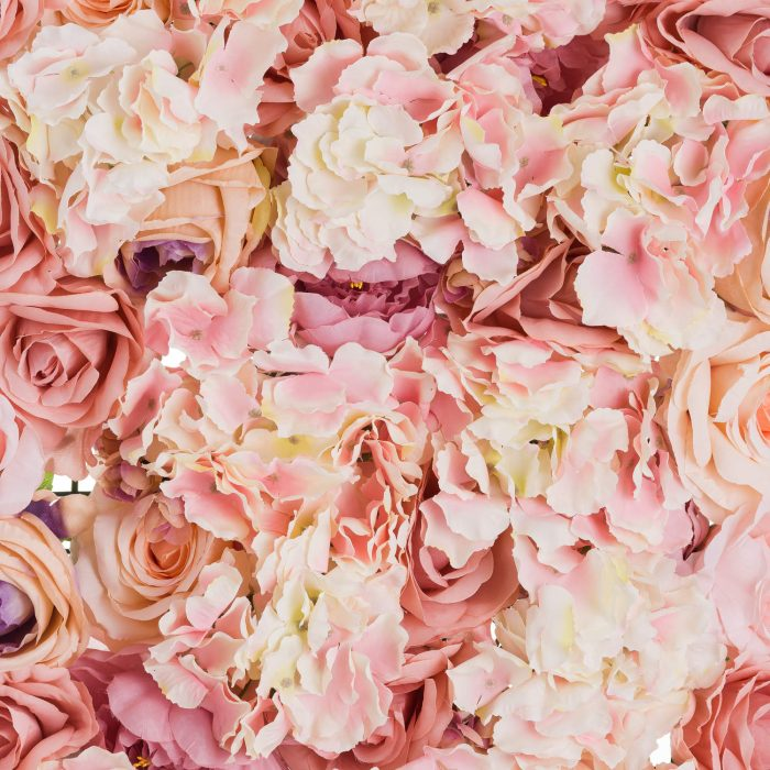 Blush Pink Flower Wall - Cosy Home Interiors