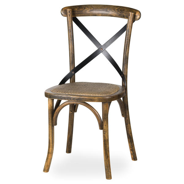 Oak Cross Back Dining Chair - Cosy Home Interiors