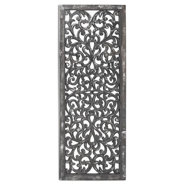 Louis Carved Antique Mettalic Lattice Mirror - Cosy Home Interiors