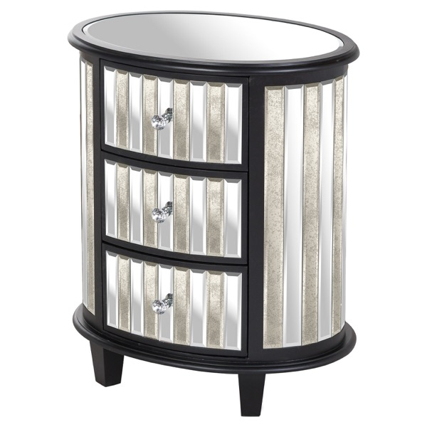 Soho Collection Oval 3 Drawer Unit - Cosy Home Interiors