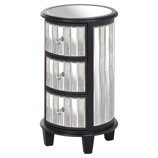 Soho Collection Circular 3 Drawer Unit - Cosy Home Interiors