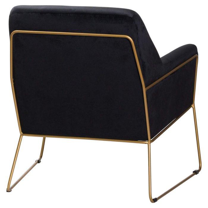 Flynn Framed Black Velvet Club Chair - Cosy Home Interiors