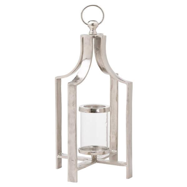 Ohlson Silver Large Tea Light lantern - Cosy Home Interiors