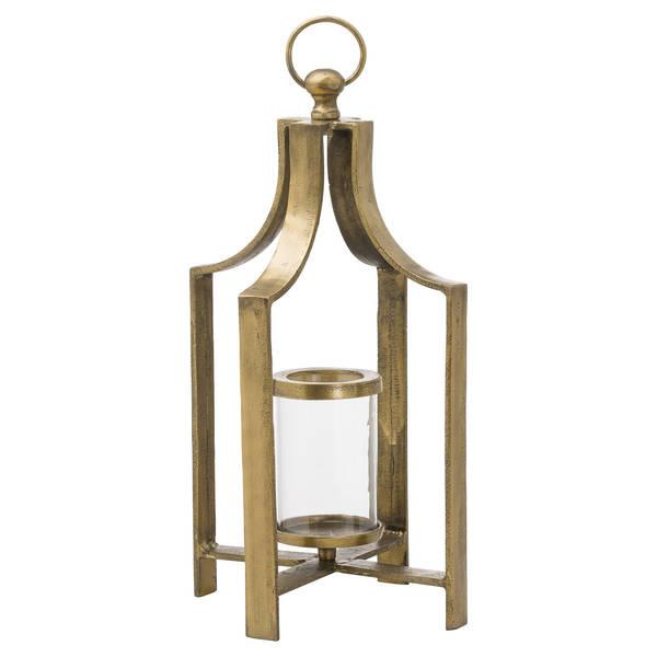 Ohlson Antique Brass large Tea Light Lantern - Cosy Home Interiors