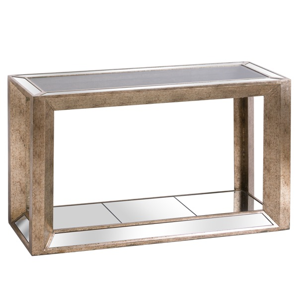 Augustus Mirrored Console Table with Shelf - Cosy Home Interiors