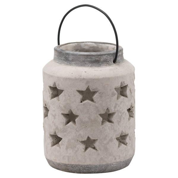 Bloomville Large Stone Star Lantern - Cosy Home Interiors