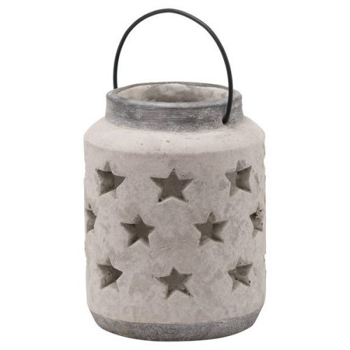 Bloomville Large Stone Star Lantern - Cosy Home Interiors