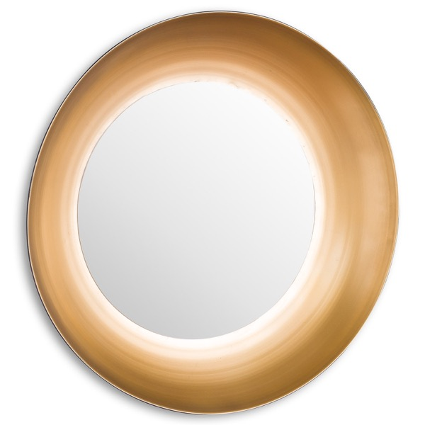 Devant Large Gold Rimmed Mirror - Cosy Home Interiors