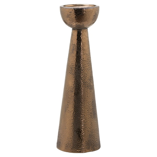 Evi Antique Bronze Candle Stand - Cosy Home Interiors