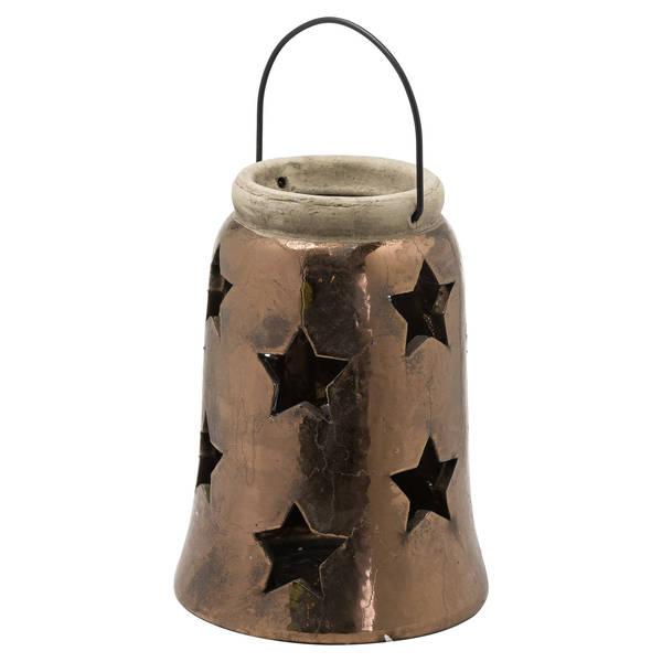 Evi Antique Bronze Large Star Lantern - Cosy Home Interiors