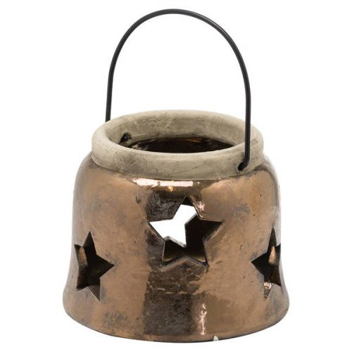 Evi Antique Bronze Small Star Lantern - Cosy Home Interiors
