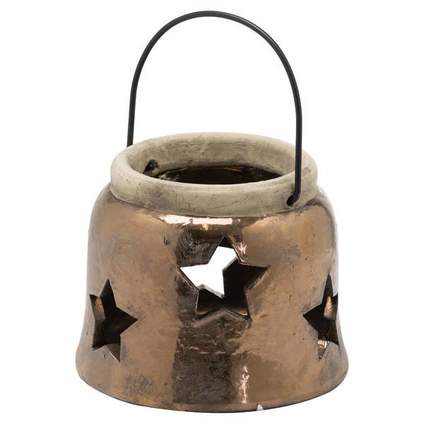 Evi Antique Bronze Small Star Lantern - Cosy Home Interiors
