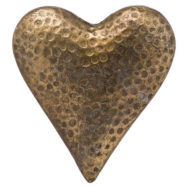 Evi Antique Bronze Large Heart - Cosy Home Interiors