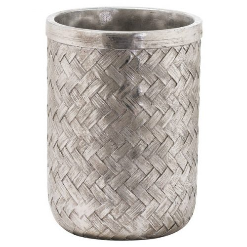 Aspen Woven Effect Large Vase - Cosy Home Interiors