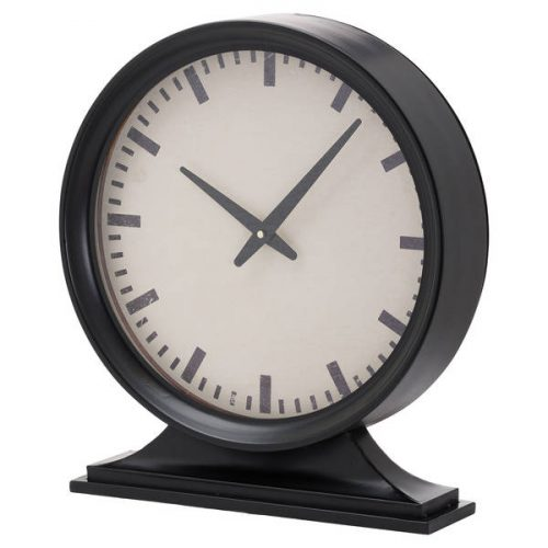 Simple Black Mantel Clock - Cosy Home Interiors