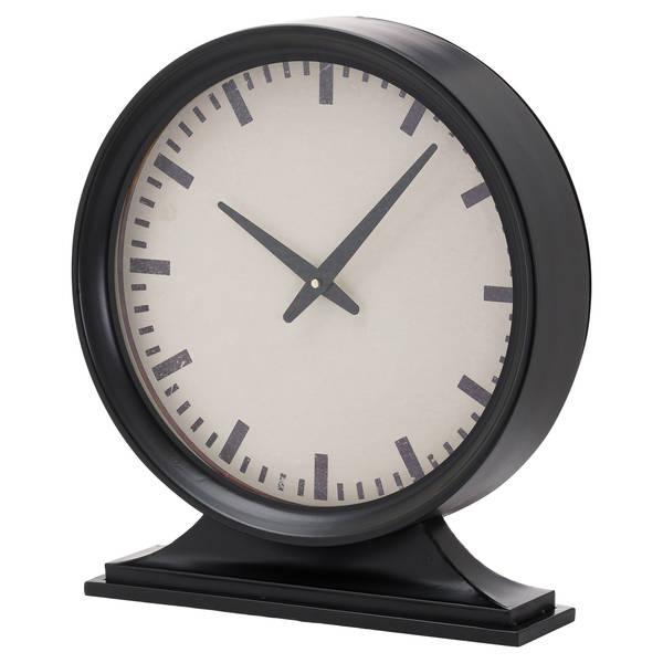 Simple Black Mantel Clock - Cosy Home Interiors