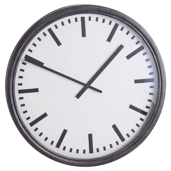 Large Black Station Clock - Cosy Home Interiors