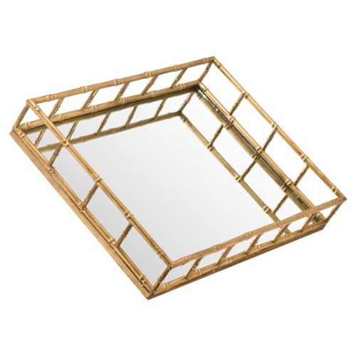 Set Of 2 Detailed Rectangular Trays - Cosy Home Interiors